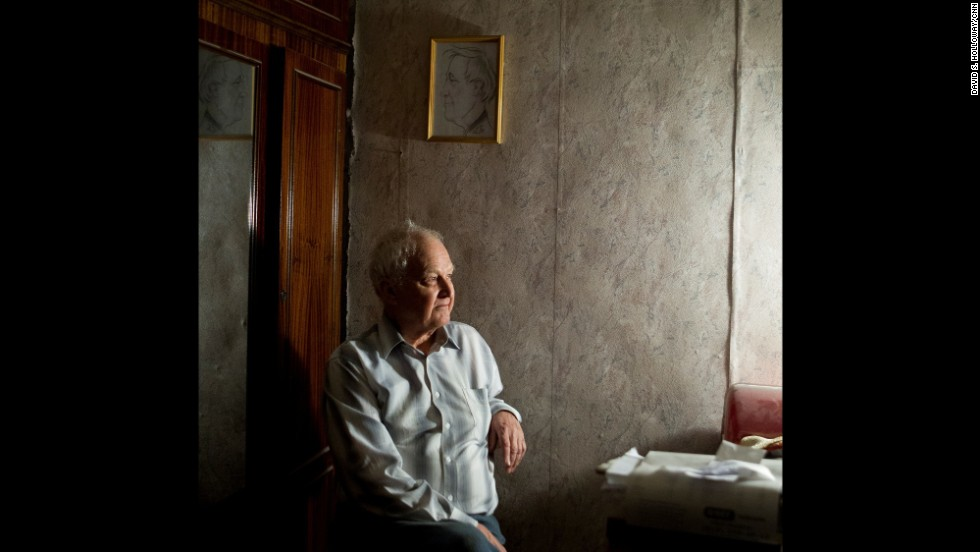 Yuri Vdovin, a human rights activist and professor, sits in his home at the House of Moruzi.