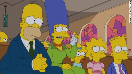 THE SIMPSONS, (from left): Homer Simpson, Marge Simpson, Maggie Simpson, Lisa Simpson, Bart Simpson, 'Four Regrettings and A Funeral', (Season 25, ep. 2503, aired Nov. 3, 2013). TM and Copyright © 20th Century Fox Film Corp. All rights reserved.