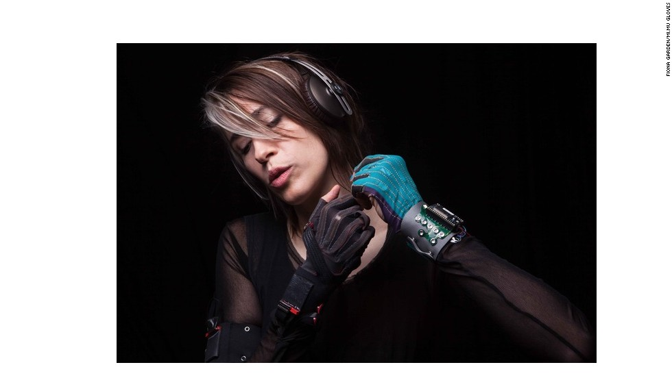 "Singer-songwriter Imogen Heap has <a href=""http://www.imogenheap.com/tag/mi-mu-gloves/"" target=""_blank"">performed ethereal versions of her tracks</a>, playing an instrument of her own creation -- housed in<a href=""http://theglovesproject.com/"" target=""_blank""> a glove</a>. ""I wanted to be able to play the computer as expressively as I can play the piano,"" she says."