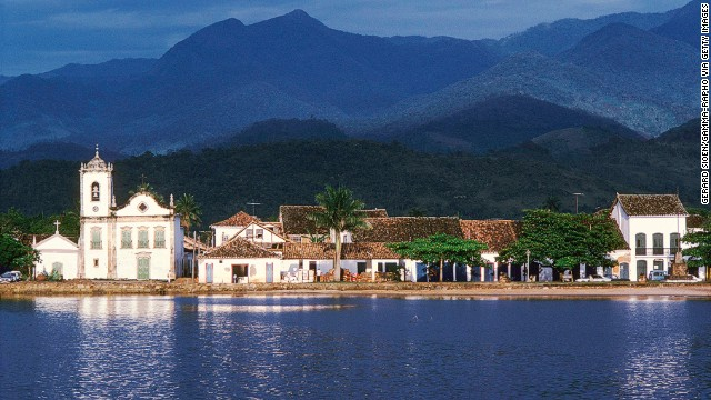 Paraty is known for its well preserved colonial architecture.