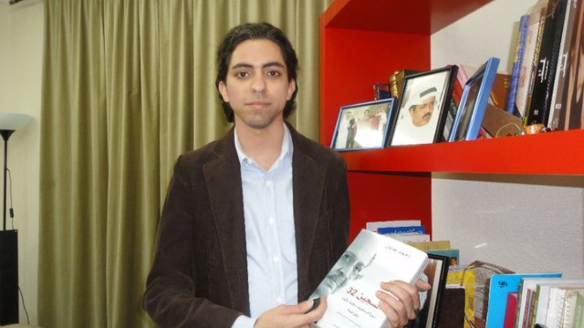 Image from the Facebook page of Saudi activist Raif Badawi who is in jail.