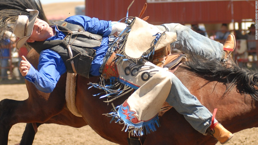 """Rodeo basically developed from the range riders of old, that would come together and ride wild horses -- and by 'wild' I mean they were born wild, they were not used to humans handling them, so you have to tame them,"" said Old Horn. ""How do you ride a horse that had never been rode before? That developed into rodeo today."""
