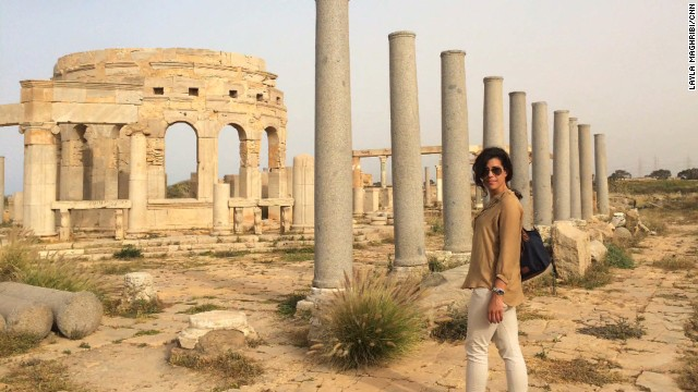CNN Producer Layla Maghribi finds the magnificent Roman ruins of Leptis Magna free of crowds, guards and tourists.