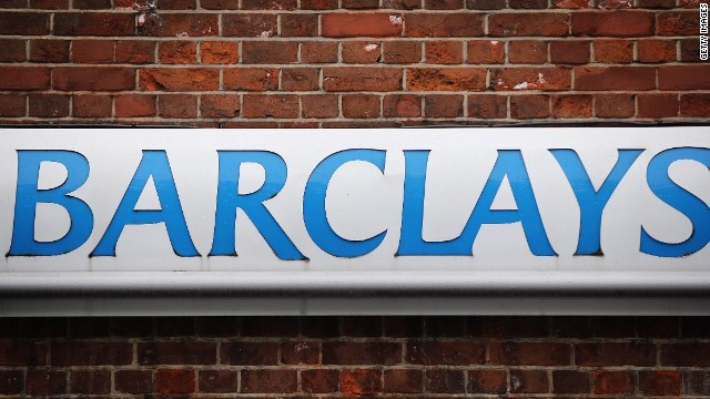 A Barclays sign outside a Barclays Plc bank branch on May 8, 2014 in London, England. Barclays announced yesterday that they will cut 14,000 jobs this year across the investment part of their company as part of a new strategy.