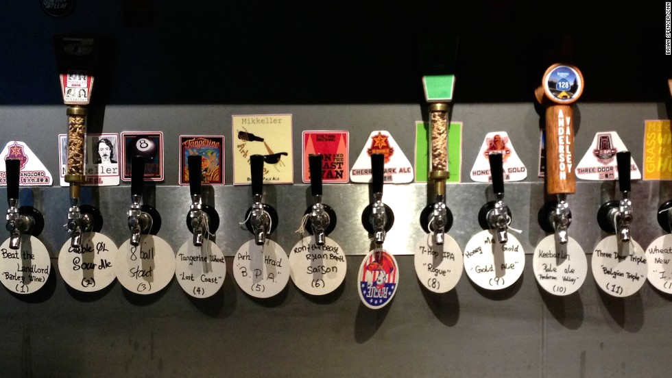The Roundhouse features 25 taps of craft beer -- the biggest and best list in Hong Kong.