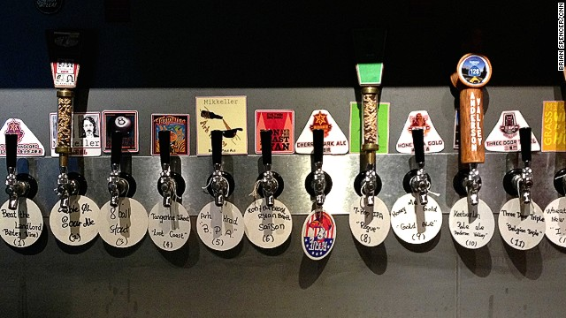 The Roundhouse has a whopping 25 craft beer taps.