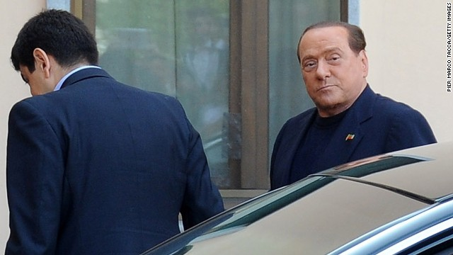 Italy's former PM Silvio Berlusconi starts community service at senior center