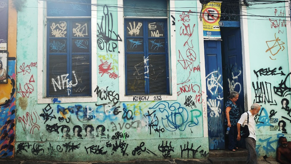 The writing is on the wall. The Lapa district's popularity as a nightlife destination is helping revitalize the once run-down Rio neighborhood.