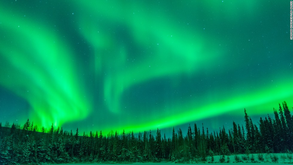 There are only a few hours of daylight in midwinter Fairbanks. All the better for enjoying the spectacle of the Aurora Borealis.