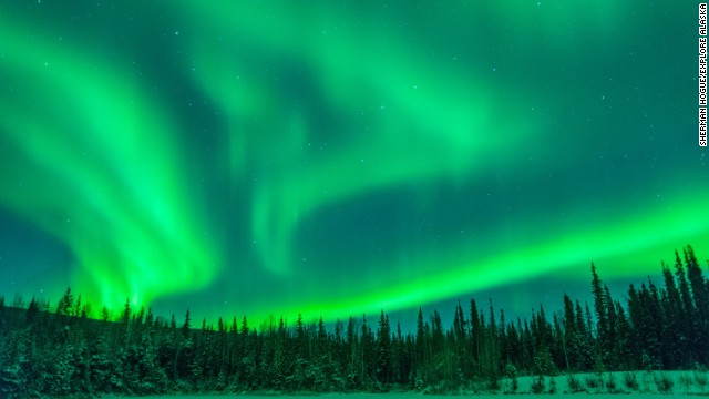 Northern lights over Fairbanks.