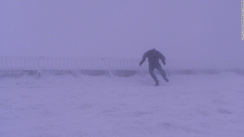 Winds exceed hurricane force on at least 100 days a year on New Hampshire's Mount Washington.