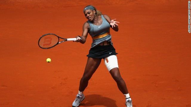 Serena Williams in action during the Mutua Madrid Open.