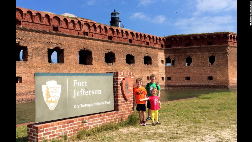 Hussey's family spent a night camping at the remote Dry Tortugas National Park, about 68 miles off the coast of Key West. While visiting, Hussey's children learned that conspirators in Abraham Lincoln's death were imprisoned there in the Civil War-era Fort Jefferson. Later in their sabbatical, they visited Ford's Theatre, where Lincoln was shot. Both visits prompted discussions about the Civil War and Lincoln's presidency.