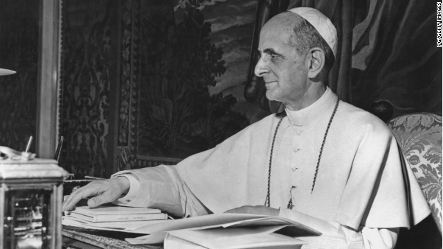 "Pope Paul VI was ""one of the most traveled popes in history and the first to visit five continents,"" according to the Vatican."