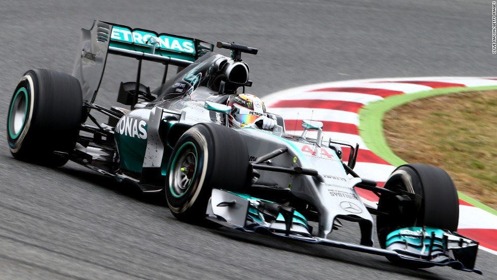 Round five: Hamilton rains on Rosberg's parade in Spain as he wins to take the lead in the world championship standings for the first time.