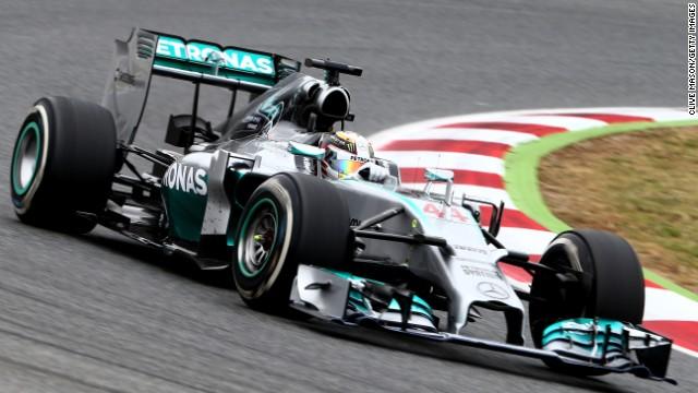 Lewis Hamilton at the Spanish F1 Grand Prix in Barcelona.
