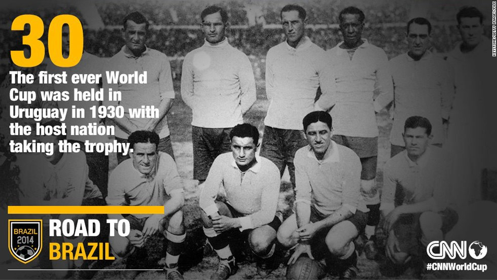 Uruguay became the first ever World Cup champions after hosting the inaugural tournament in 1930.