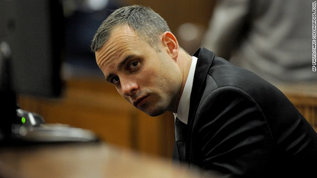 Oscar Pistorius sits in court for his ongoing murder trial in Pretoria, South Africa, Monday, May 12, 2014.