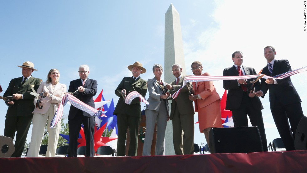 The Washington Monument reopened on May 12, 2014, after a 2011 earthquake caused $15 million in damage.
