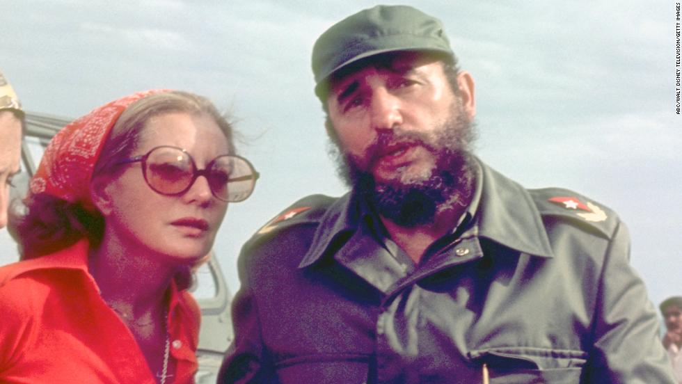Walters interviewed Cuban President Fidel Castro as they crossed the Bay of Pigs for an ABC News Special that aired on June 9, 1977.