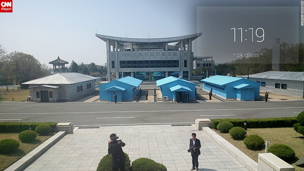Zhu noticed that the DMZ uses Samsung air conditioners, a South Korean brand.