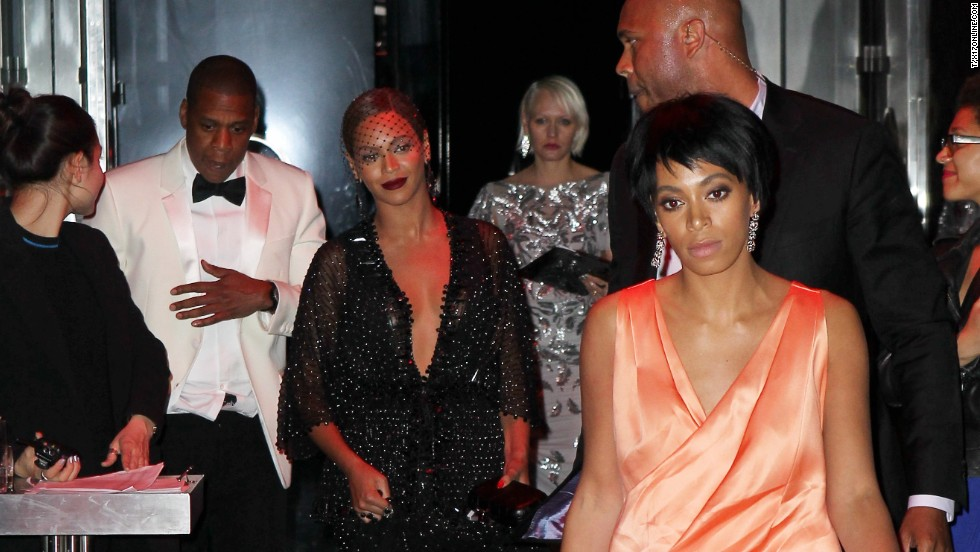 Jay Z and his sister-in-law Solange Knowles, right, reportedly had an altercation at a Met Gala after-party at New York's Standard Hotel on May 5. Security camera footage that appeared on TMZ doesn't tell the whole story,  but there are plenty of pictures of the rapper, his wife, Beyonce, and her sister leaving the party. Here's what photographers captured after the alleged tussle: