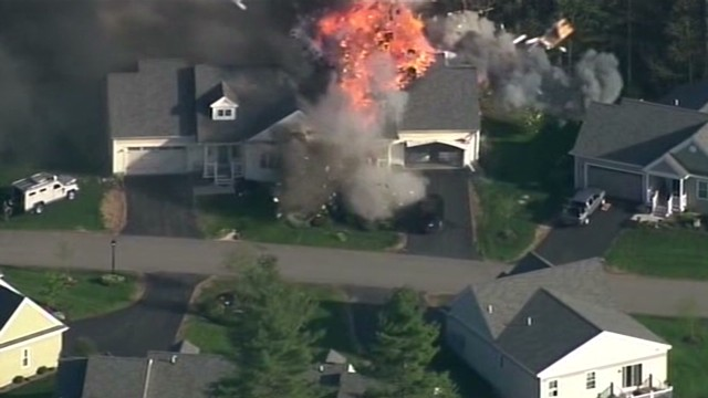 House explodes shortly after shooting