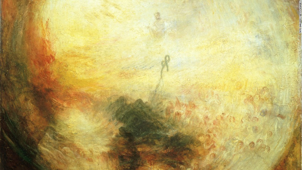 "Parker downplays himself as a ""painter"" while he says Turner -- who created such works as ""Light and Color"" (pictured here) -- was a ""great artist."""