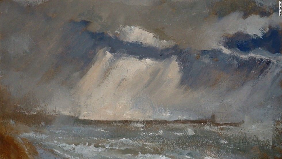 "And the more storm-turned elements of Turner's work are, to some degree, replicated in Parker's ""Brighton Storm."""