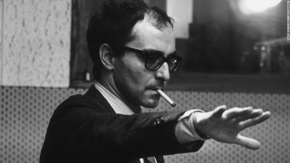 "Jean-Luc Godard pictured during the filming of ""Sympathy for the Devil"" in early 1968. In May, he and fellow New Wave filmmaker Francois Truffaut led a group of filmmakers who closed down the Cannes Film Festival early"