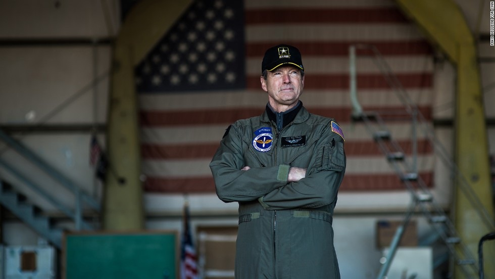 """Retired Army Lt. Col. John P. Woodward says of the copter, """"I fell in love with it in '73, when I first started flying them. My wife is still jealous."""""""
