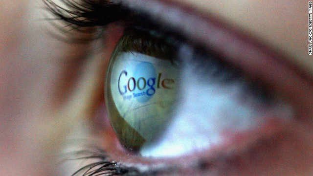 In this photo illustration the Google logo is reflected in the eye of a girl on February 3, 2008 in London, England.