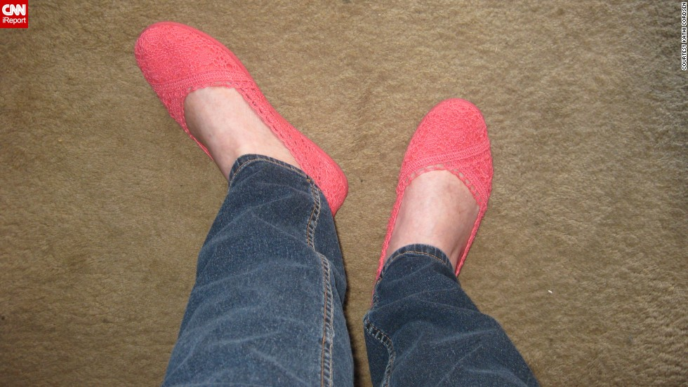 "<a href=""http://ireport.cnn.com/docs/DOC-1121873"">Kathi Cordsen</a> was thrilled to find some new flats she liked for spring and summer. ""You don't know how pleased I am to never have to wear heels again,"" she said."