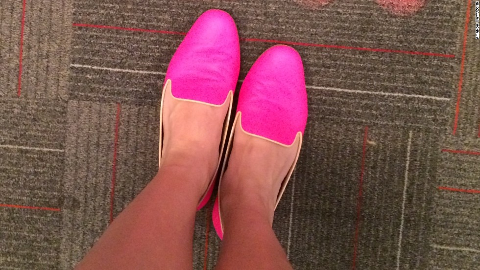 "Even CNN employees were eager to share their favorite flatts. Assignment editor <a href=""https://twitter.com/cnnamanda"" target=""_blank"">Amanda Watts</a> calls these her ""subtle flats,"" because they are anything but subtle. ""I love the juxtaposition of the menswear-inspired loafer against the super girly hot pink color. And since hot pink is a neutral (isn't it?) they go with just about everything,"" said Watts, who works in Atlanta."