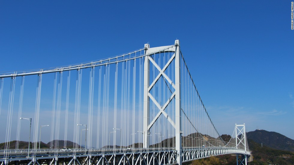 Innoshima Bridge is one of seven bridges on the Shimanami Kaido route.