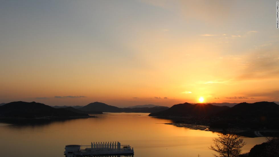 Rooms come with a view at the Bella Vista Hotel in Onomichi, where most cyclists begin and end their Shimanami Kaido journey.