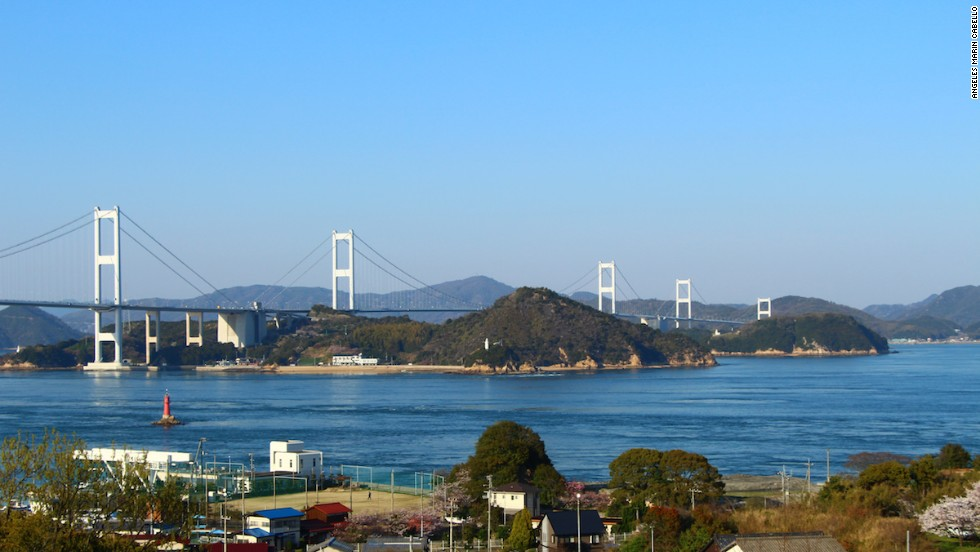 "At 4,045 meters long, Kurushima Bridge is the<a href=""http://www.roadtraffic-technology.com/features/feature-the-worlds-longest-suspension-bridges/"" target=""_blank""> longest suspension bridge in the world</a>."