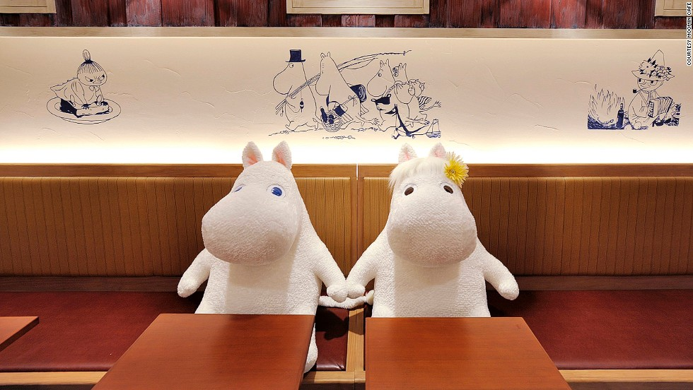 Moomintroll (L) and his girlfriend the Snork Maiden hope for a double date.