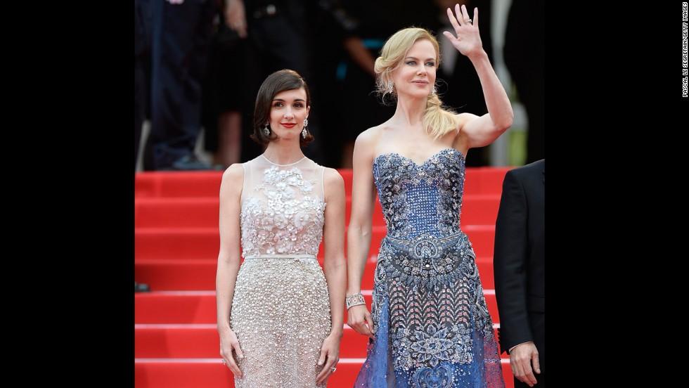 Actresses Paz Vega, left, and Nicole Kidman on May 14