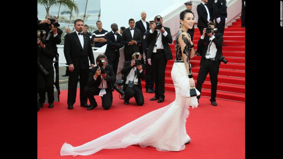 Actress Zhang Ziyi on May 14