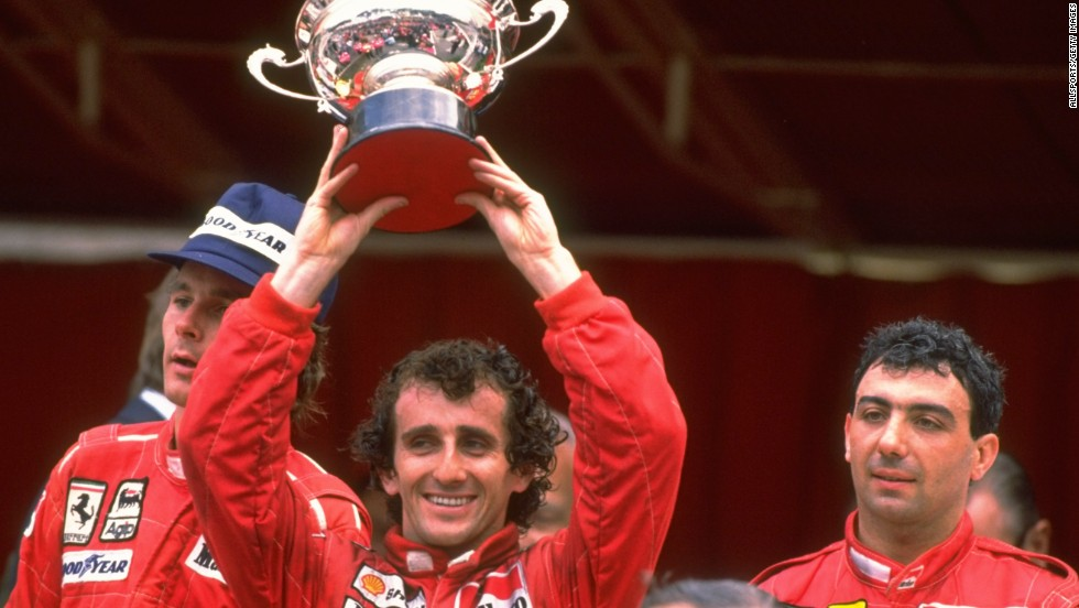 Alain Prost retired from F1 in 1993 after winning the fourth and final world title of his glittering career. The Frenchman won the Monaco Grand Prix four times, and is pictured here after doing so in 1988.