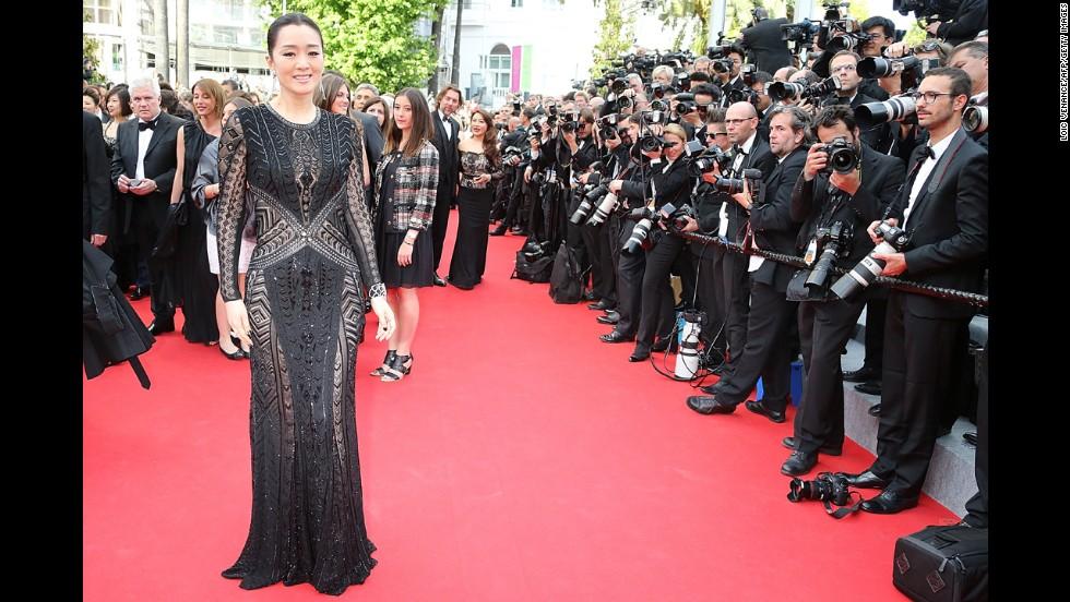 Actress Gong Li on May 14