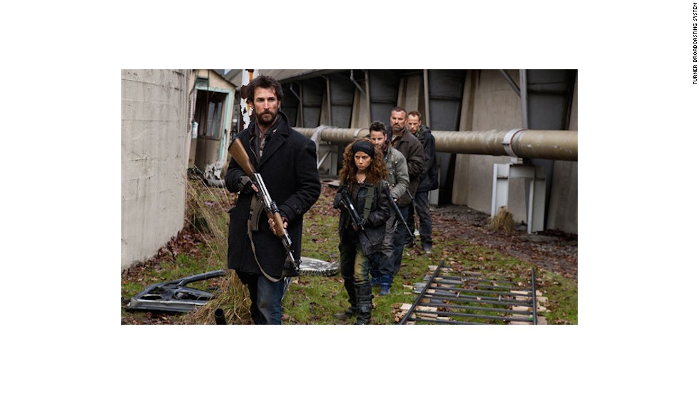 "An alien invasion has wiped out about 90% of the world's population and the survivors in post-apocalyptic Boston band together to fight back. But can a group of civilians stand a chance against the mechanical attack drones in the U.S. show ""Falling Skies."""