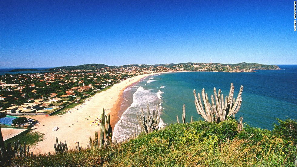 Buzios became popular with the jet set in the 1960s when Brigitte Bardot became a regular at what was then a small fishing village. Geriba, pictured here, is the most popular surf spot.