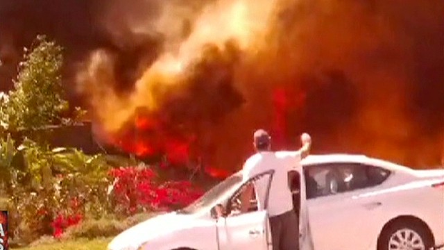 Wildfires caught on camera