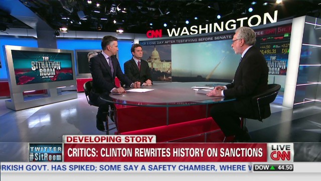 Clinton's record on sanctions