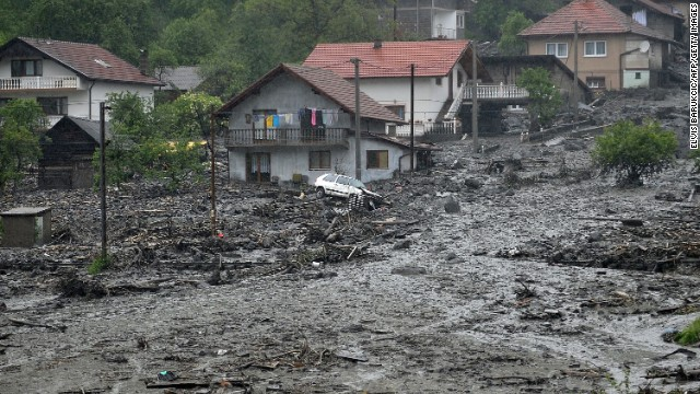 Landslides destroying Bosnia-Herzegovina