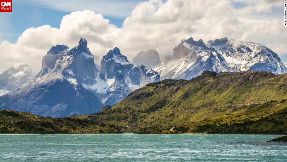 "You can see mountains, glaciers, lakes and rivers in Chilean Patagonia from <a href=""http://www.conaf.cl/parques/parque-nacional-torres-del-paine/"" target=""_blank"">Torres del Paine National Park</a>. <a href=""http://ireport.cnn.com/docs/DOC-1129779"">Dirkse</a> says hiking through the classic W trek will take you on a sightseeing adventure. ""The mountains in Torres del Paine National Park are some of the most beautiful mountains in the world,"" she says."