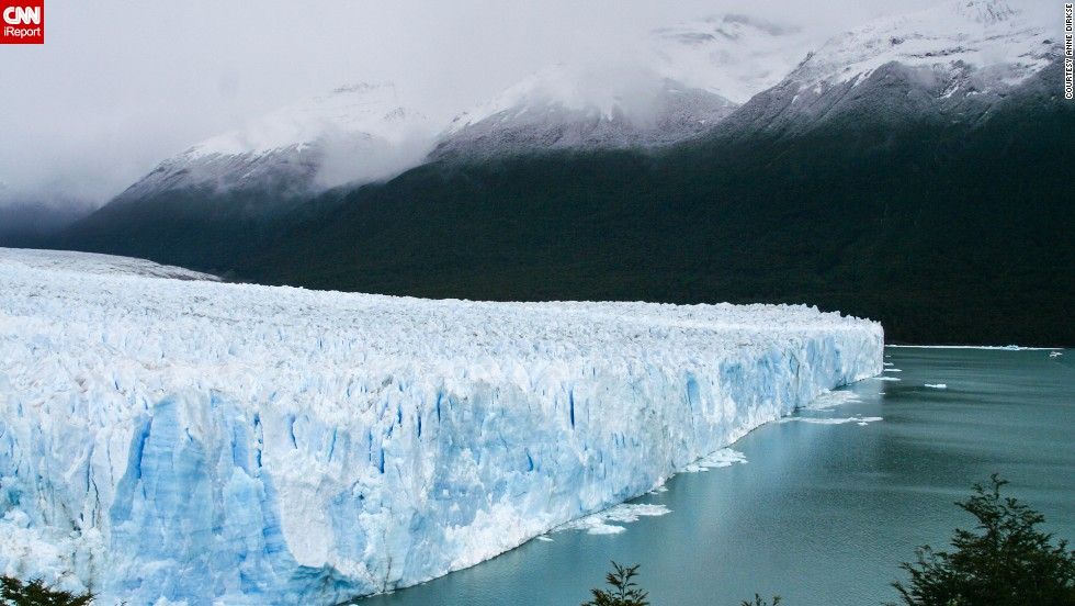"<a href=""http://ireport.cnn.com/docs/DOC-1129781"">Anne Dirkse</a> shared this photo of <a href=""http://www.losglaciares.com/en/parque/"" target=""_blank"">Los Glaciares National Park's</a> ice cap in Argentina. It's the largest ice cap outside  Antarctica and Greenland."