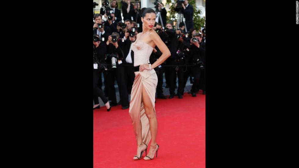 Model Adriana Lima on May 18